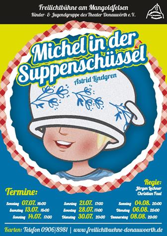 Plakat Michel in der Suppenschuessel Michel
